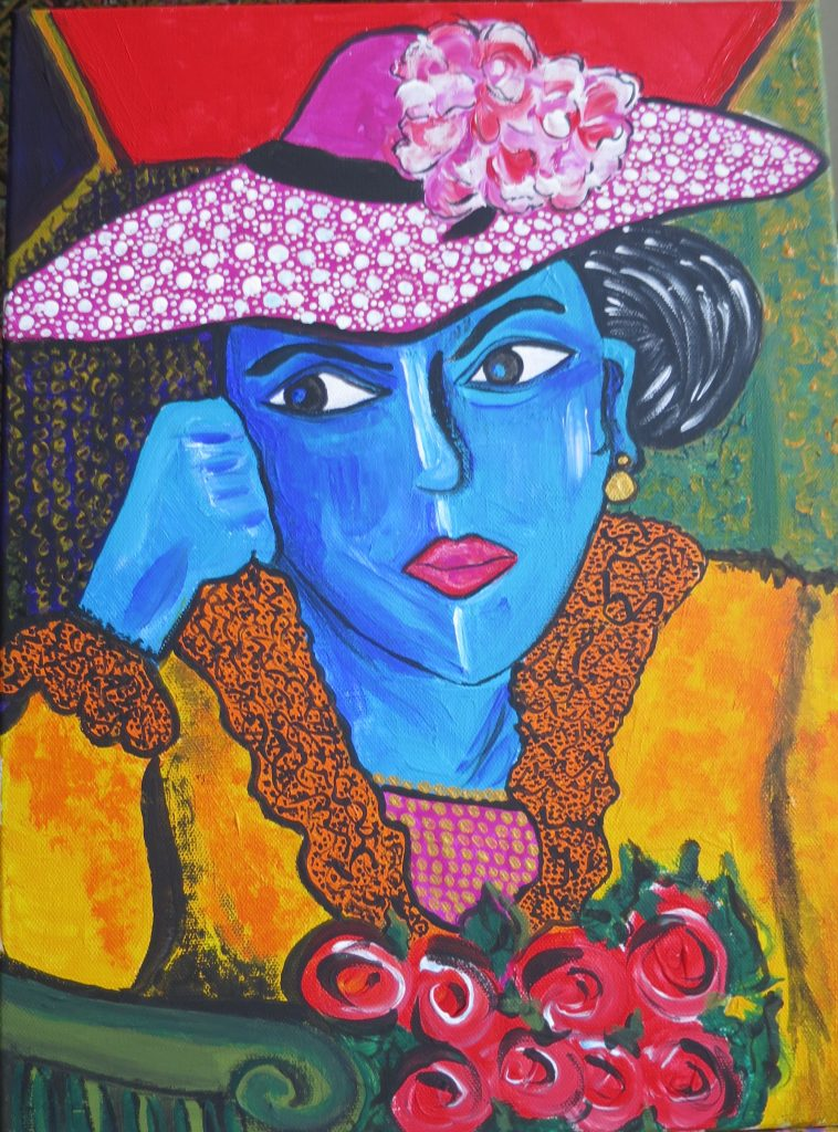 Lady in Blue (sold)